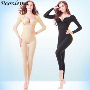 full-body-shaper- Full Cover Bodysuit Seamless Slimming Shapewear Long Sleeve Stretchy Shaper Women Bellies Modeling S-2XL